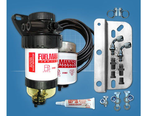 Mitsubishi Pajero 2006-on NS NT NW 3.2L Turbo Diesel - Fuel Manager Pre Filter Fuel Water Separator Kit FM607DPK