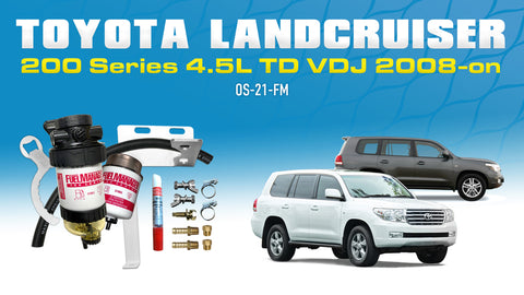 Toyota Landcruiser 200 Series 4.5L VDJ200 2008-on Fuel Manager Pre-Filter Fuel Water Separator Kit