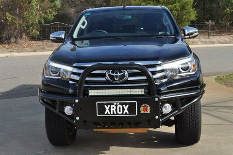 xrox Steel Bull Bar Roo Bar for Toyota Hilux Revo 2.8DT 4WD 07/2015 on XRHLX3