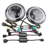 GQ PATROL 7 inch LED headlight x 2 new projector lens high output DRL Halo