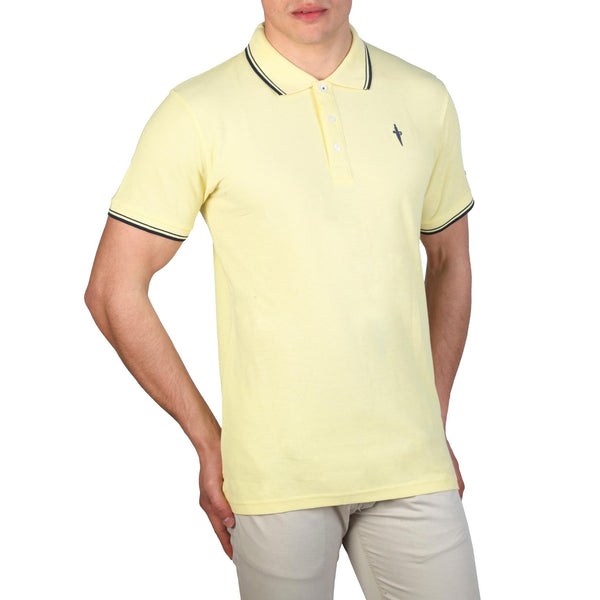 Cesare Paciotti Mens Yellow Polo
