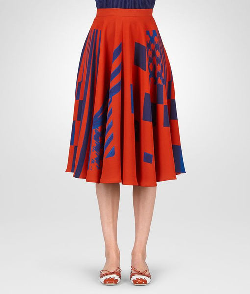 Bottega Veneta ARIZONA ATLANTIC CREPE JAPONAISE SKIRT