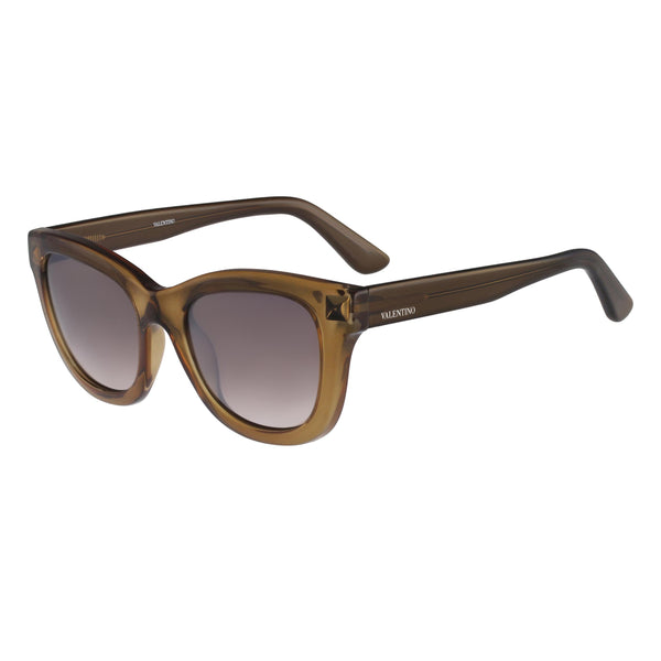 Valentino - V706S Womens Olive Brown Sunglasses with Rockstud