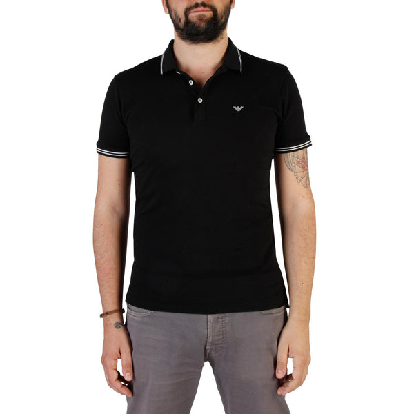 Emporio Armani Mens Black Polo