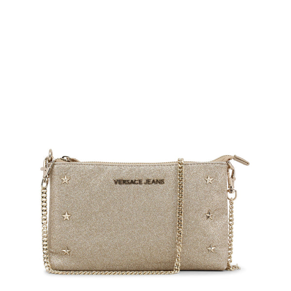 Versace Jeans Womens Gold Clutch - Evening bag with chain