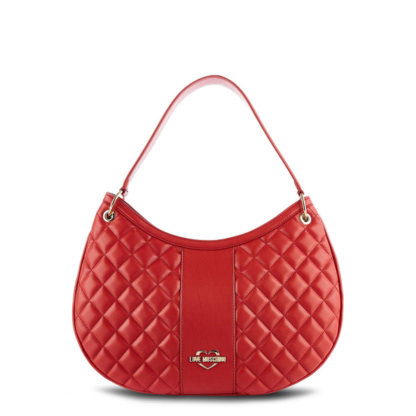 Love Moschino Red Quilted Shoulder Bag