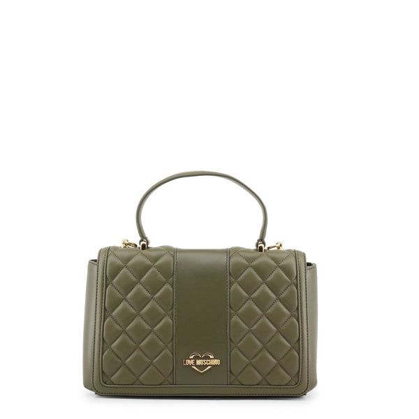 Love Moschino Olive Green Quilted Crossbody Bag
