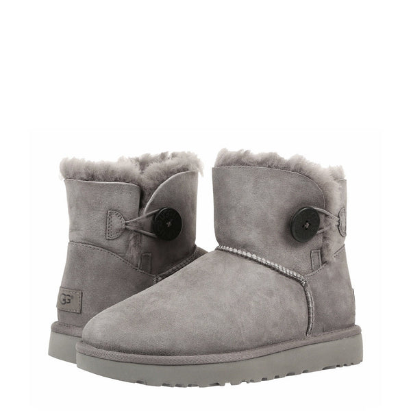 UGG Womens Grey Suede Short Boots