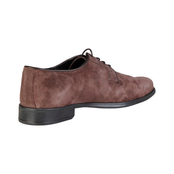 Pierre Cardin - ALBERIC Mens Brown Genuine Suede Classic Lace Up Italian Shoes