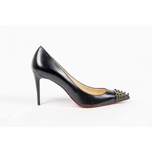 Christian Louboutin Womens Pump CABO PUMP 85 PATENT/KID M101 BLACK/BLACK GD