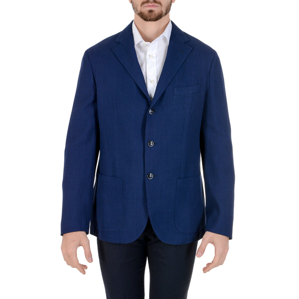 Barba Napoli Mens Jacket Long Sleeves Blue