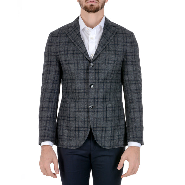 Barba Napoli Mens Jacket Long Sleeves Checked