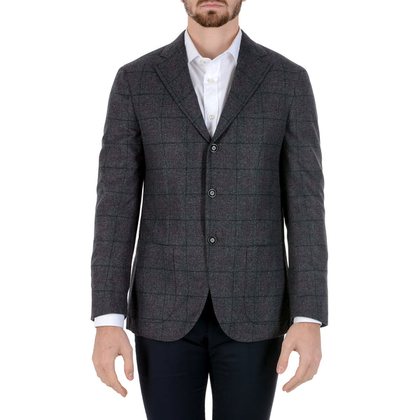 Barba Napoli Mens Jacket Long Sleeves Grey