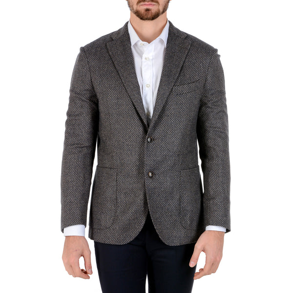 Boglioli Milano Mens Jacket Long Sleeves Dark Grey