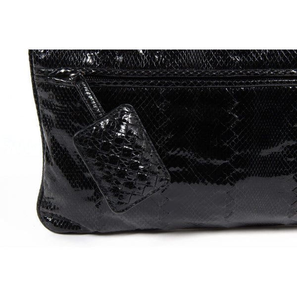 Bottega Veneta Womens Black Leather Handbag - Sovranity