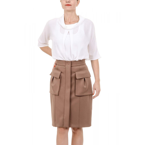 Bottega Veneta Womens Beige Skirt