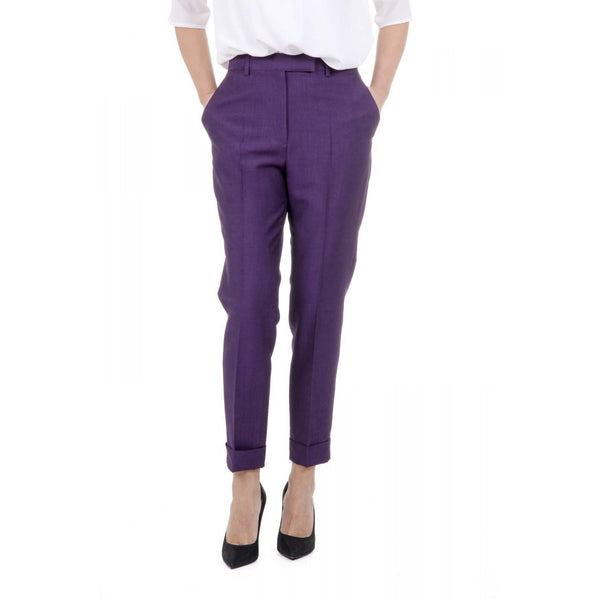 Bottega Veneta Womens Purple Trousers - Sovranity