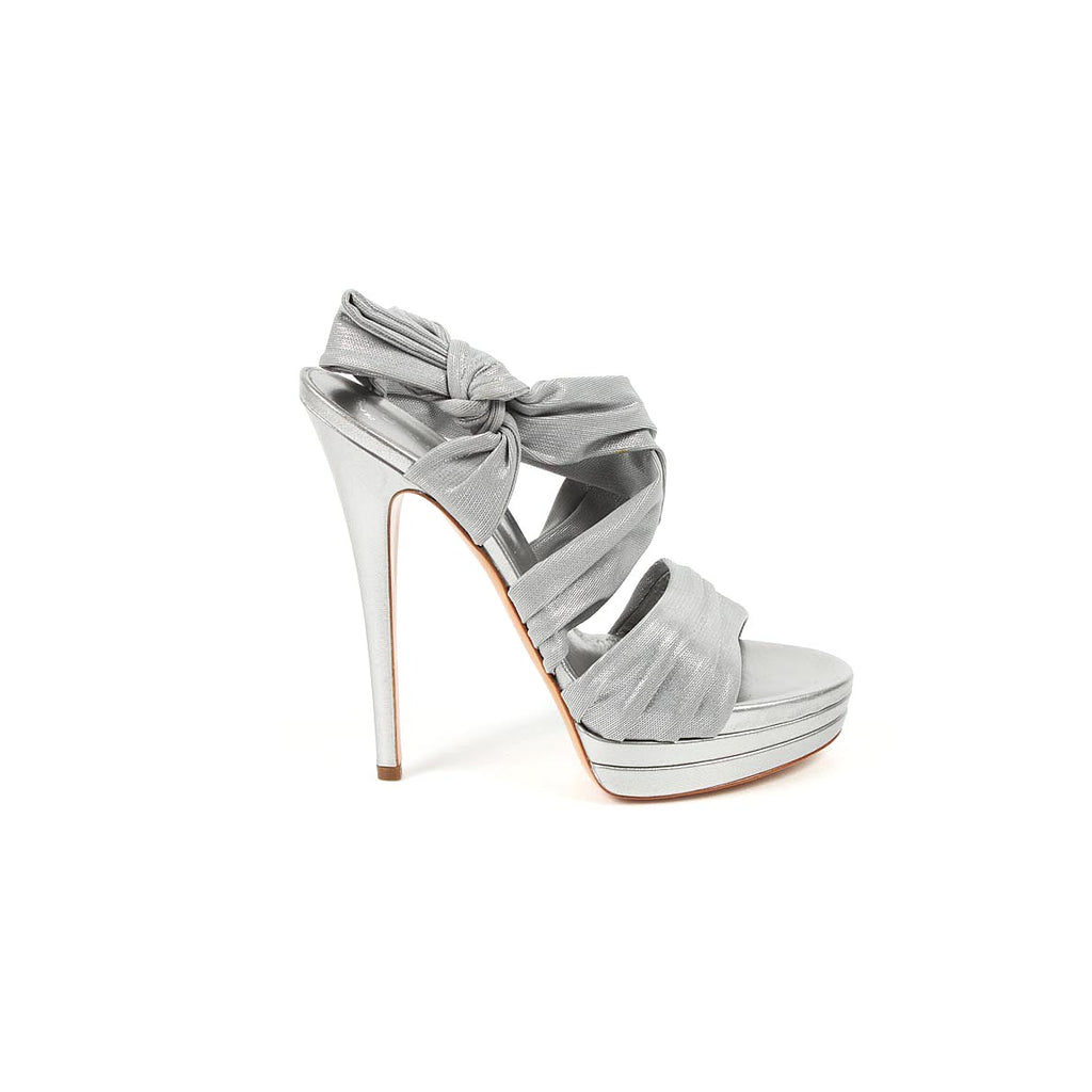 Casadei ladies silver sandals