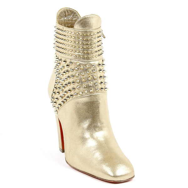 Christian Louboutin Womens Gold Ankle Boot