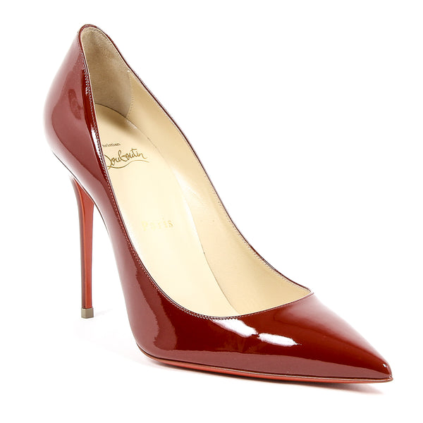Christian Louboutin Womens Signature Dark Red Stiletto Pumps