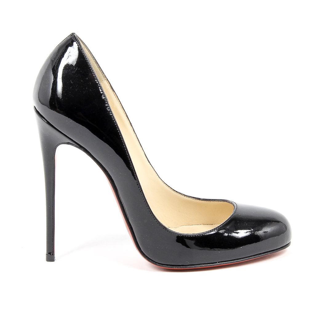 Christian Louboutin Womens Breche Patent Leather Pumps in Black