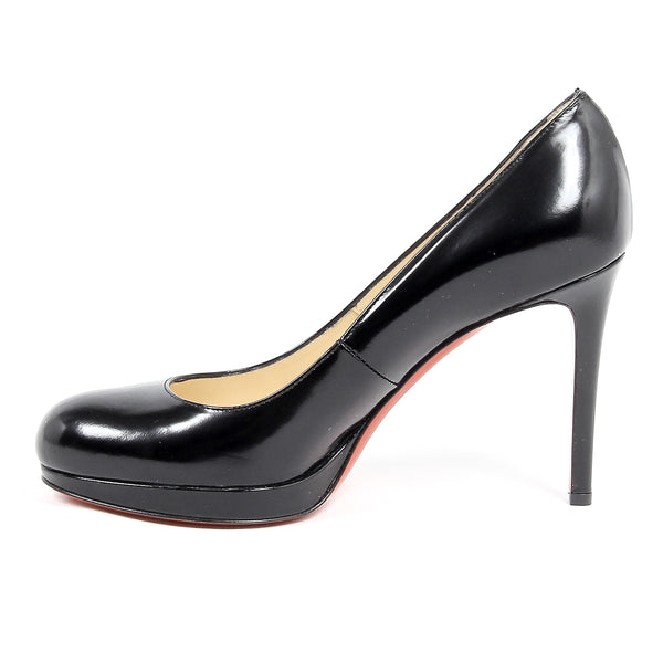 Christian Louboutin Womens Signature Black Stiletto Pumps with Red Sole