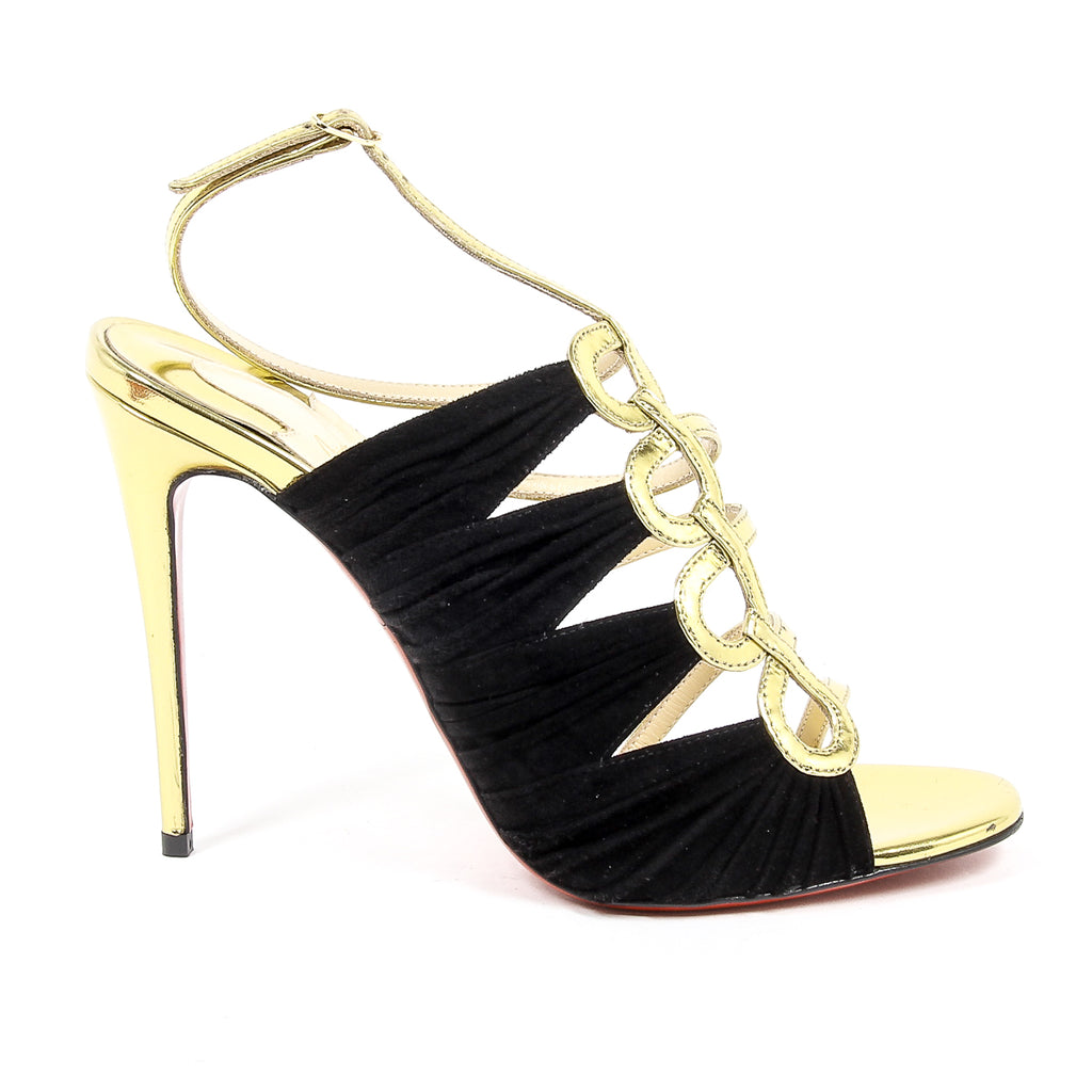 1b56661089c Christian Louboutin Women's Black tina Cage Sandals