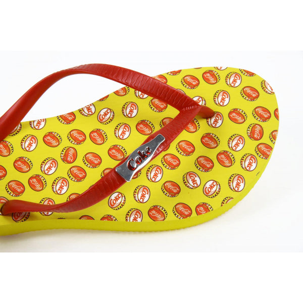 Coca Cola ladies flip flop CCA0595 TAMPINHAS GIRL YELLOW - Sovranity
