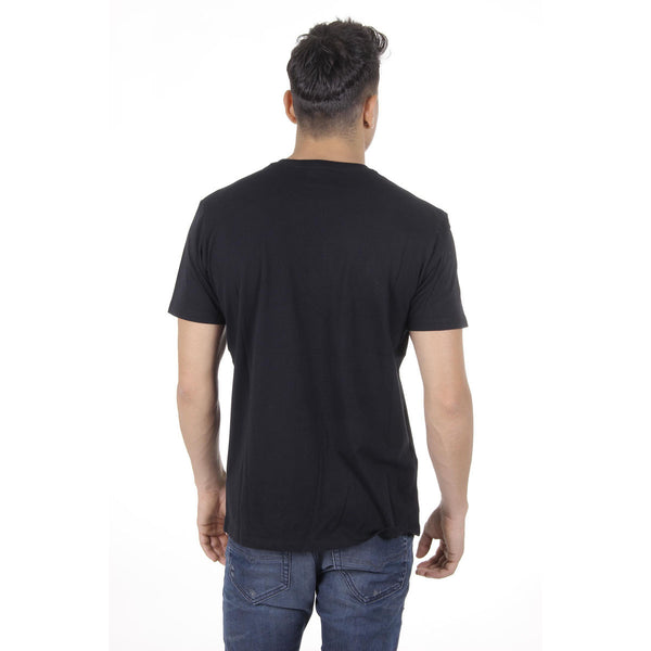 Diesel Mens T-Shirt Short Sleeves Round Neck - Black with logo