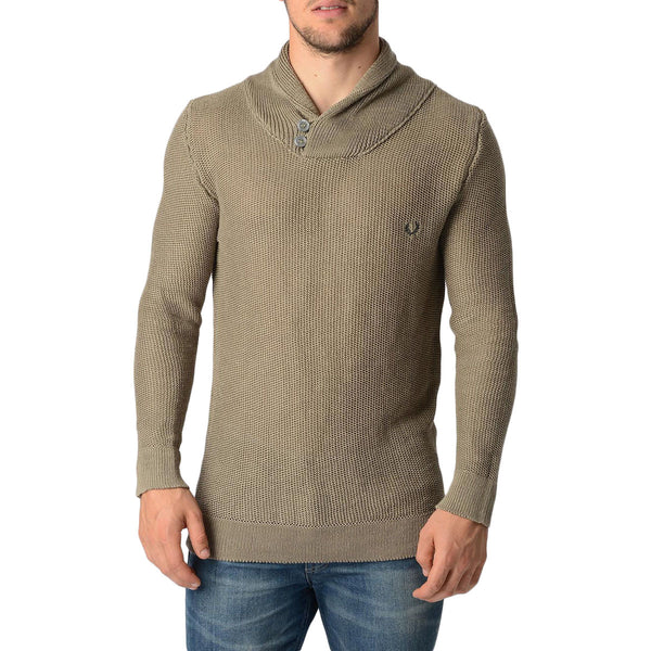 Fred Perry Mens Taupe Sweater - Sovranity