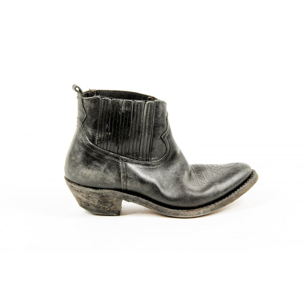 Golden Goose Womens Black Calf Leather Ankle Boot - Sovranity