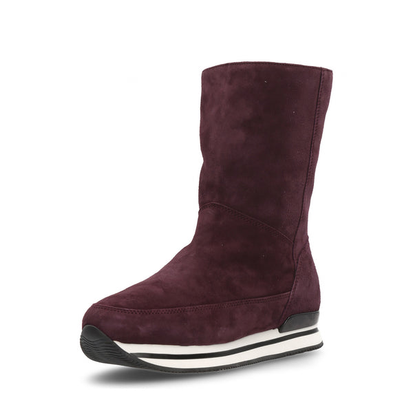 Hogan Womens High Boot Bordeaux HXW2410O720CCR0L812