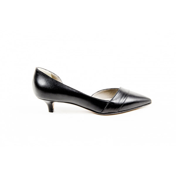 Kiton Womens Pump Open Side D39809 VIP NERO - Sovranity