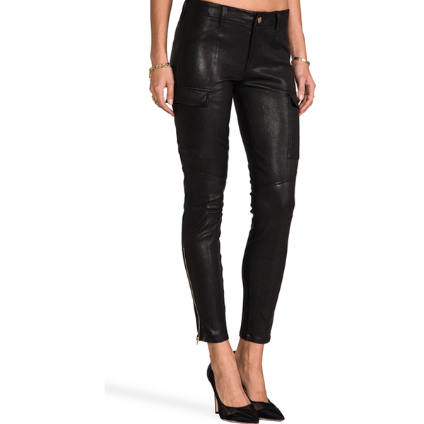 J Brand Lamb Leather Black Jeans/ Pants Houlihan - Sovranity