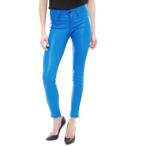 J Brand 5 Pocket Leather Leggings in Breakwater L8001 Blue Skinny Pants Jeans - Sovranity