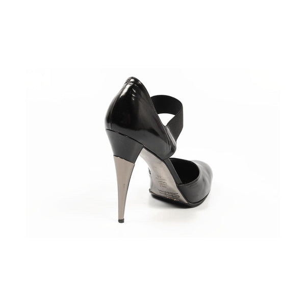Sebastian Milano ladies side cross strap pump 3215 BLACK SPAZZOLATO NERO - Sovranity