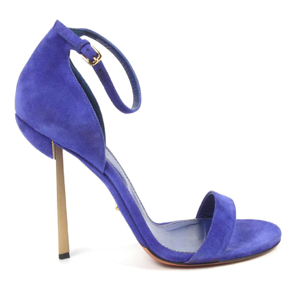 Sergio Rossi Womens Purple Suede Sandal