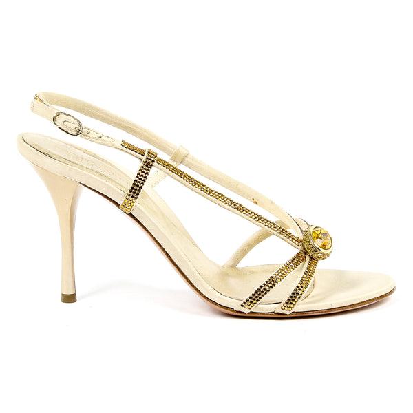 Sergio Rossi Womens Sandal in Gold