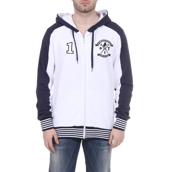 Ufford & Suffolk Polo Club Mens Hoodie with Zip Long Sleeves