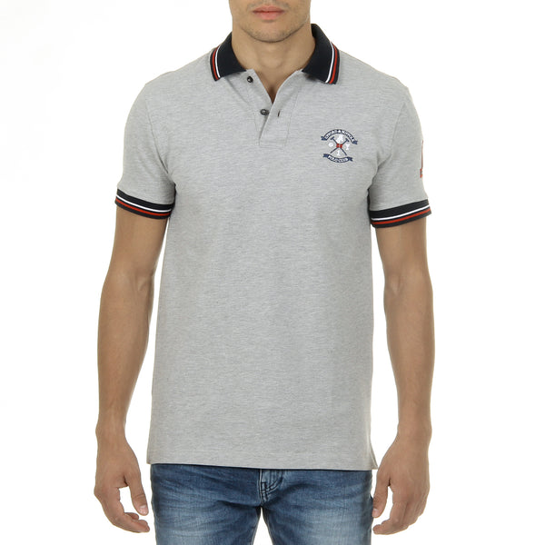 Ufford & Suffolk Polo Club Mens Polo Short Sleeves Grey NOTTE