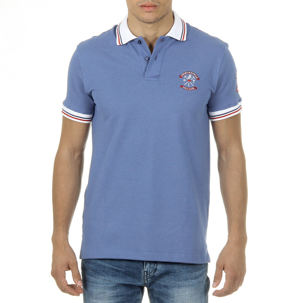 Ufford & Suffolk Polo Club Mens Polo Short Sleeves Light Blue DAGO
