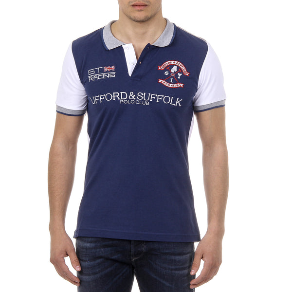 Ufford & Suffolk Polo Club Mens Polo Short Sleeves US001 INDIGO