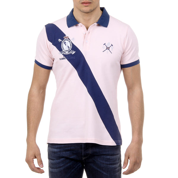 Ufford & Suffolk Polo Club Mens Polo Short Sleeves US004 PINK