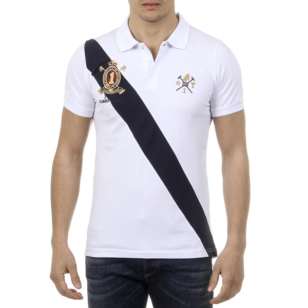 Ufford & Suffolk Polo Club Mens Polo Short Sleeves US004 WHITE