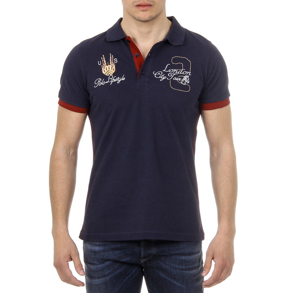 Ufford & Suffolk Polo Club Mens Polo Short Sleeves US005 NAVY BLUE