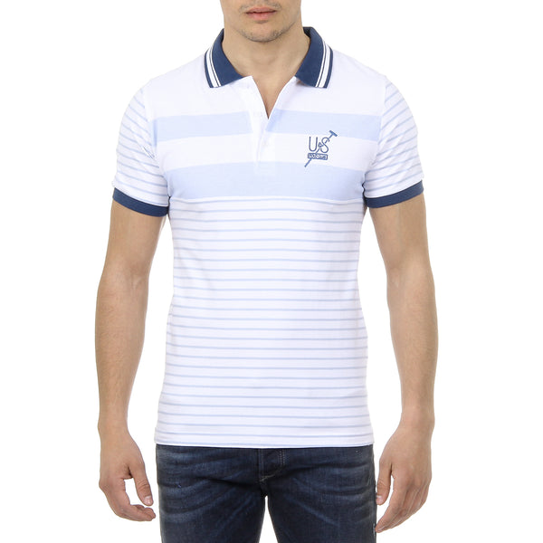 Ufford & Suffolk Polo Club Mens Polo Short Sleeves US006 BLUE