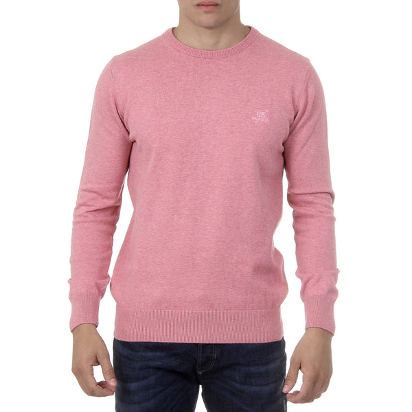 Ufford & Suffolk Polo Club Mens Sweater Long Sleeves Round Neck PULLRUS100 PINK
