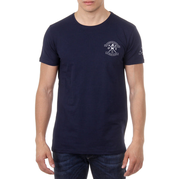 Ufford & Suffolk Polo Club Mens T-Shirt Short Sleeves Round Neck US028 NAVY BLUE