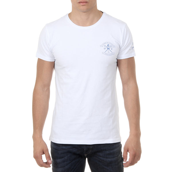 Ufford & Suffolk Polo Club Mens T-Shirt Short Sleeves Round Neck US028 WHITE