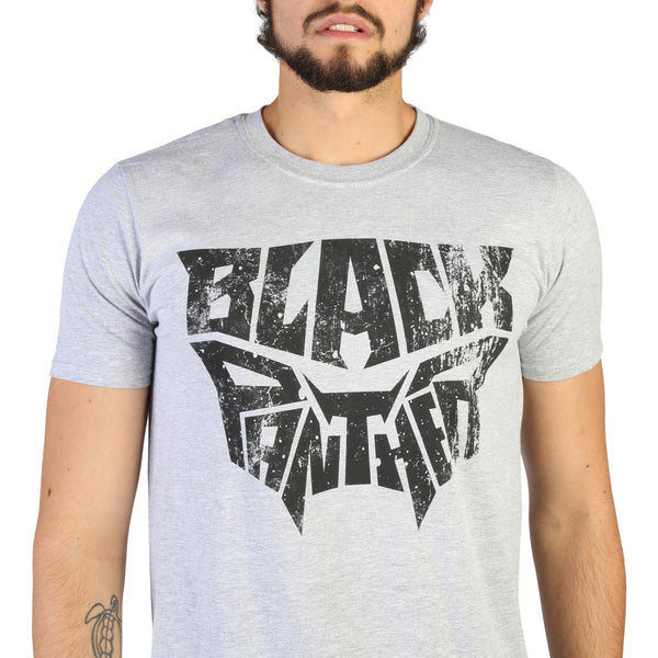 Marvel Black Panther Mens Short Sleeve Grey T-Shirt